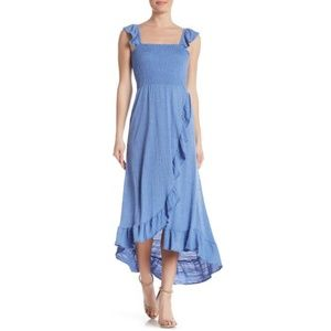 Smocked Dress with Ruffle Sleeves